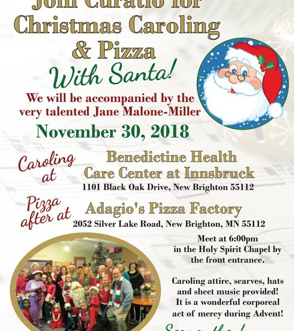 Join Curatio for Christmas Caroling